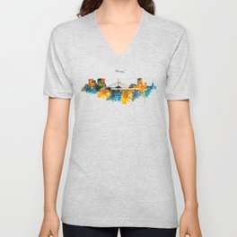 Winnipeg Skyline Unisex V-Neck