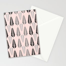 Pink Retro Floral Tree Pattern-Mix and Match with Simplicity of Life Stationery Cards