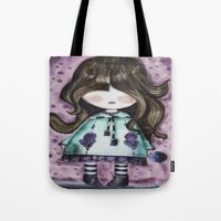 girly Tote Bags featuring girly by norjene