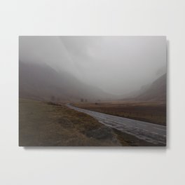 Highland Road in Scotland Metal Print