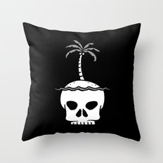 Skull Island – Black Throw Pillow