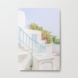 507. Blue Stairs, Mykonos, Greece Metal Print