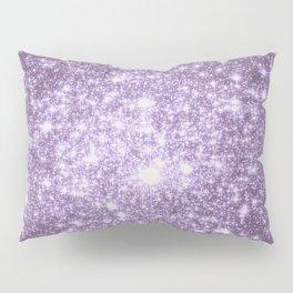 Lilac Galaxy Sparkle Stars Pillow Sham