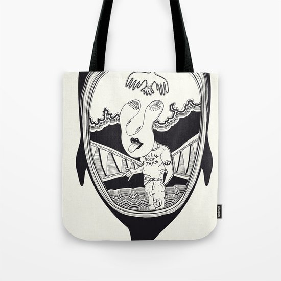 Inside the whale Tote Bag