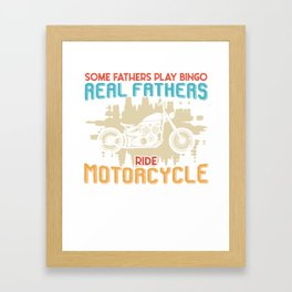 Motorcycle Father Bingo Father's Day Gift Framed Art Print