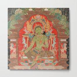 Green Tara 13th Century Tibetan Art Metal Print