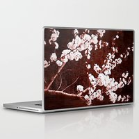 cherry blossoms Laptop & iPad Skins featuring Cherry Blossoms by Paula Belle Flores