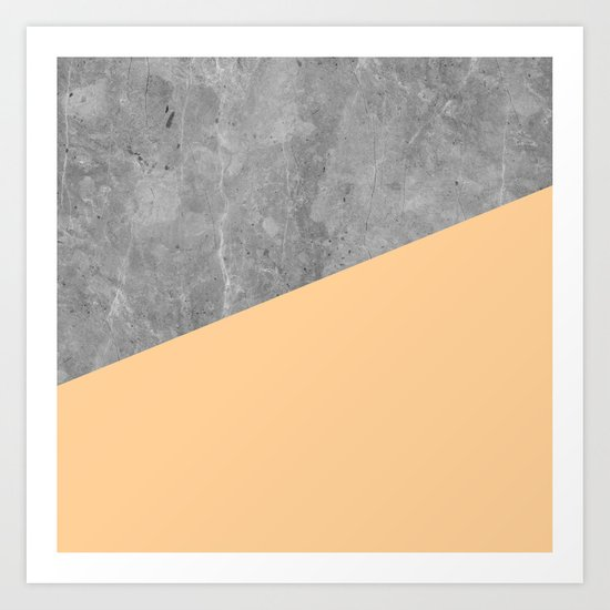 Geometry 101 Orange Sherbet Art Print