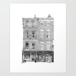 Benet's Coffee Shop, Cambridge Art Print