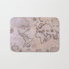 Wright Molyneux Chart of the World c1599 Bath Mat