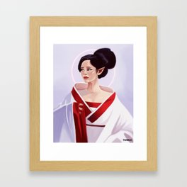 Elf Lady Painting Framed Art Print