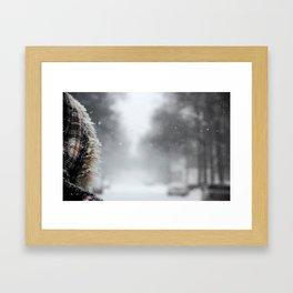 First Snowstorm Framed Art Print