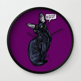 Anything But Meow Wall Clock