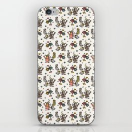 Cute Trendy Gardening Nature Flowers Watering Can iPhone Skin