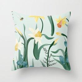 Daffodil Rumors Throw Pillow