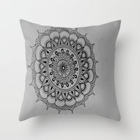 silent Throw Pillows featuring Silent by Katie Duker