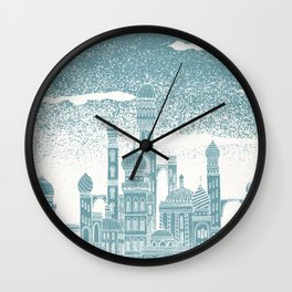 Neptune Celestial City Wall Clock