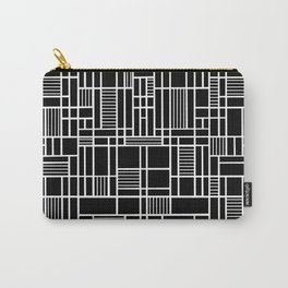 Map Lines Black Carry-All Pouch