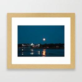 Kennebunk beach at night Framed Art Print
