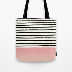 Blush x Stripes Tote Bag