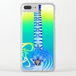 Keyblade Guitar #58 - Ultima Weapon (KH1) Clear iPhone Case