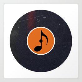 Vinyl Record Music Eighth Note Art Print
