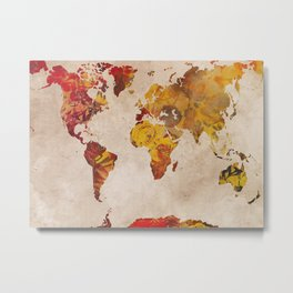 world map 24 Metal Print