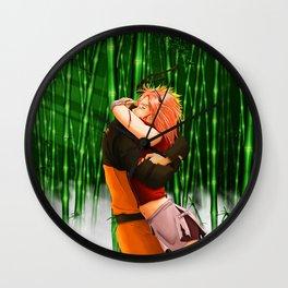 naruto and sakura Wall Clock