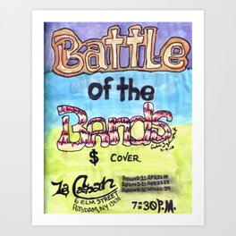 Battle of the Bands - Potsdam, NY - Spring 2010 Art Print