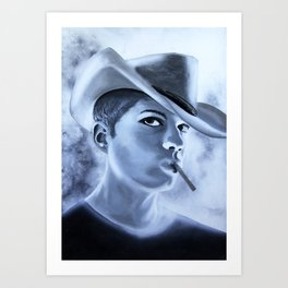 Ryan Phillipe Cowboy hat and a Fag Art Print