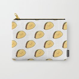Taco Pattern White Background Carry-All Pouch