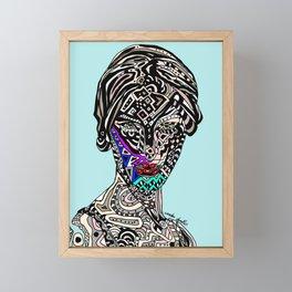 Millenium Space Goddess Framed Mini Art Print