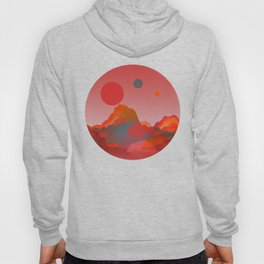 """""""Coral Pink Sci-Fi Mountains"""" Hoody"""