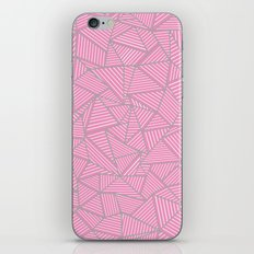 Ab Out Double Pink and Grey iPhone & iPod Skin