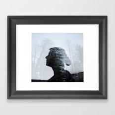 Don't hide in the woods Framed Art Print