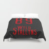 1989 Duvet Covers featuring Bill & Ted's Wyld Stallyns 89 by StevenARTify