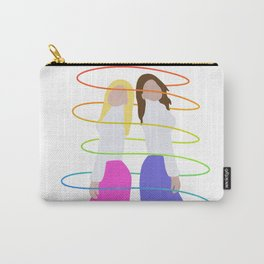 Two Girls Rainbow Swirl Carry-All Pouch