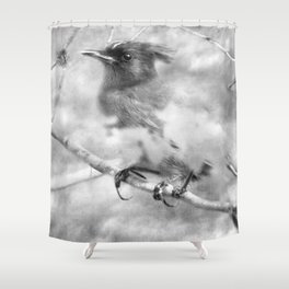 Knowing It Has Wings bw Shower Curtain