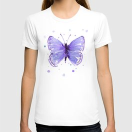 Butterfly Painting Purple Violet Abstract Butterfly T-shirt
