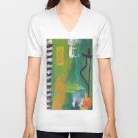 yoga V-neck T-shirts featuring YOGA by Prema Designs