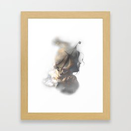 storm on the sea Framed Art Print