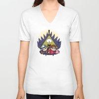 gravity falls V-neck T-shirts featuring Gravity Falls by Matt Tichenor