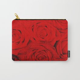 Some people grumble- Floral Red Rose Roses Flowers Garden Carry-All Pouch