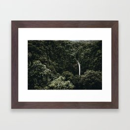 Waterfall / Costa Rica Framed Art Print