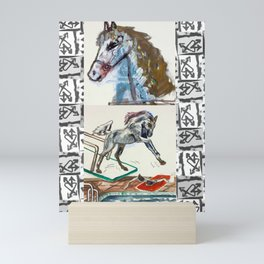 Girls & Horses II Mini Art Print