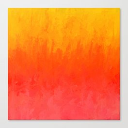 Coral, Guava Pink Abstract Gradient Canvas Print