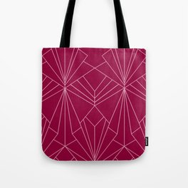 Art Deco in Raspberry Pink - Large Scale Tote Bag