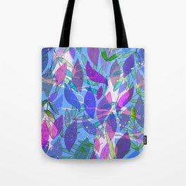 modern leaves pattern Tote Bag