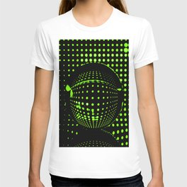 Green spots in the dark T-shirt