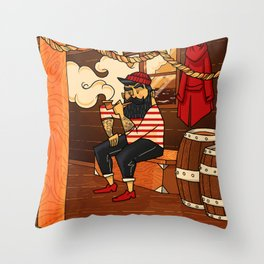 Moussaillon Throw Pillow